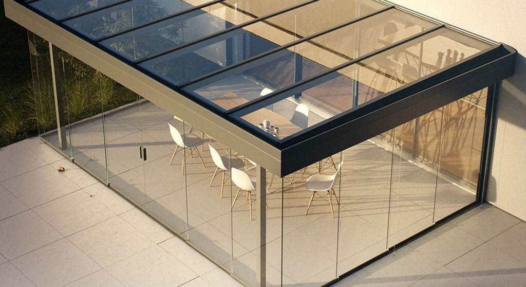 WIPRO Lounge Vollglasschiebeanlage